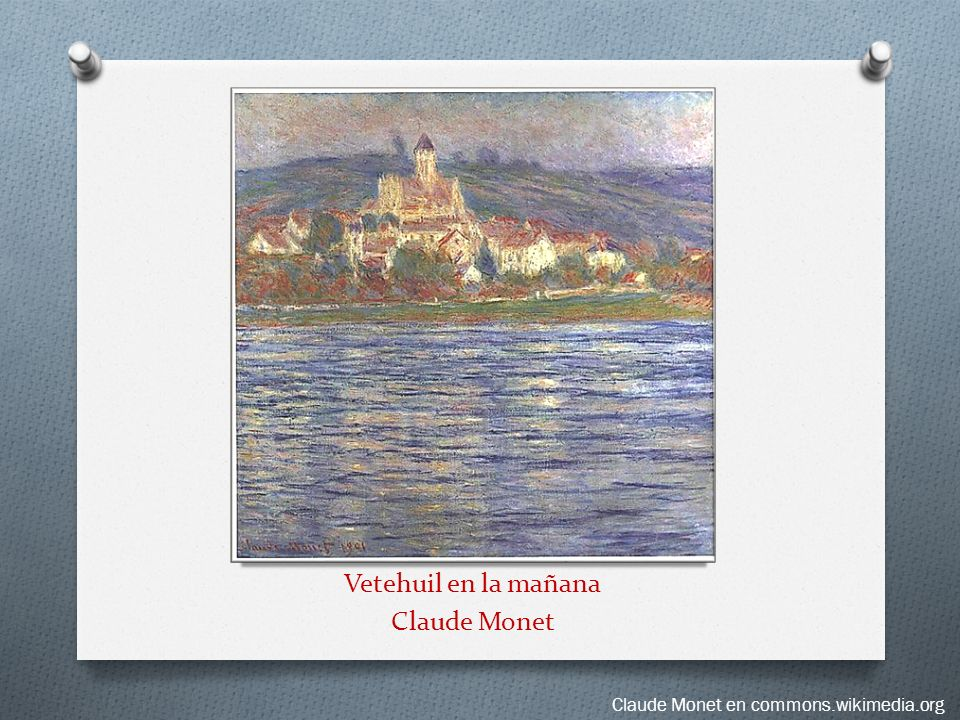 Vetehuil en la mañana Claude Monet