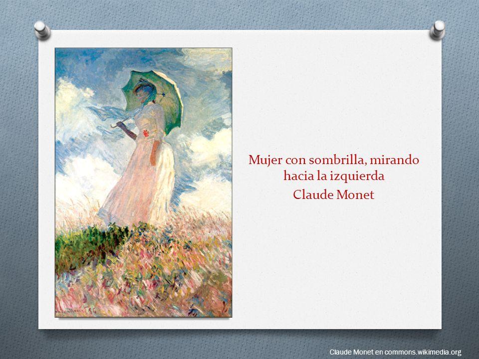 Mujer con sombrilla, mirando hacia la izquierda Claude Monet