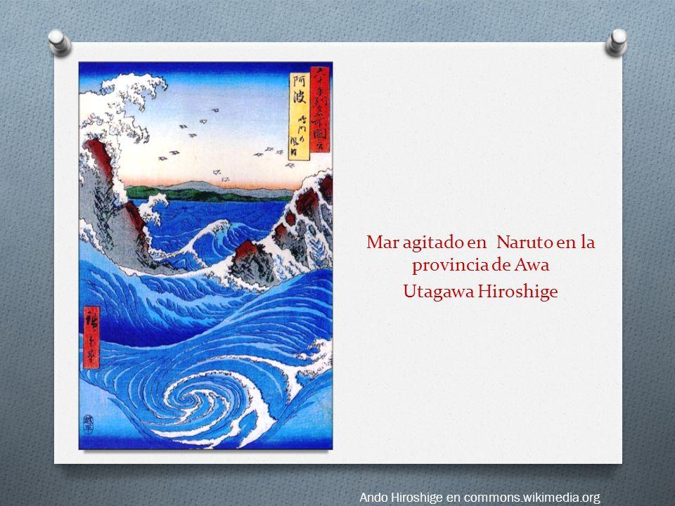 Mar agitado en Naruto en la provincia de Awa