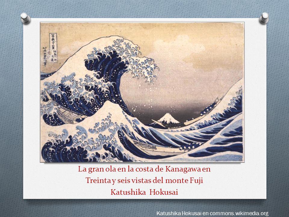 La gran ola en la costa de Kanagawa en Treinta y seis vistas del monte Fuji Katushika Hokusai