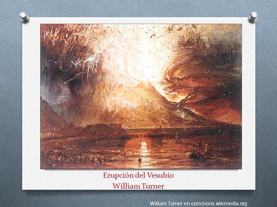 Erupción del Vesubio William Turner