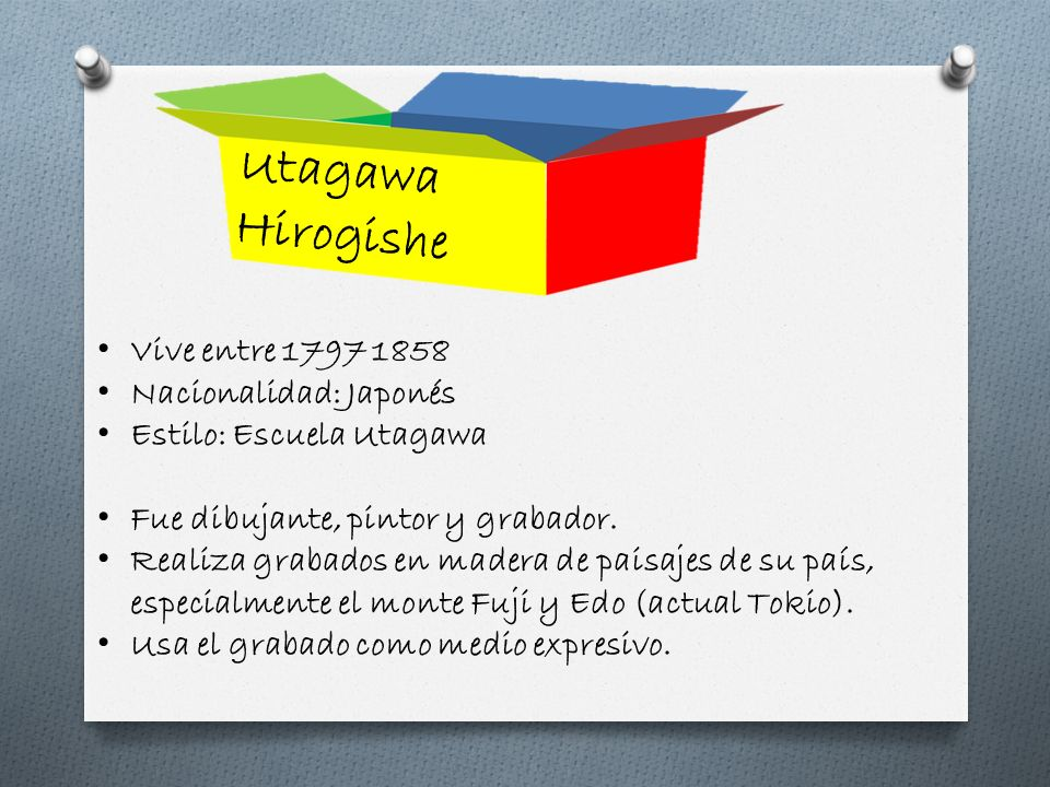 Utagawa Hirogishe Vive entre 1797 1858 Nacionalidad: Japonés