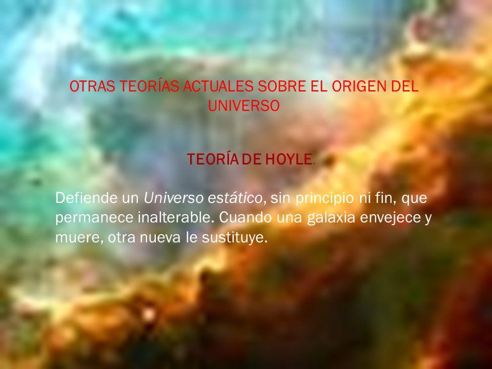 OTRAS TEORÍAS ACTUALES SOBRE EL ORIGEN DEL UNIVERSO