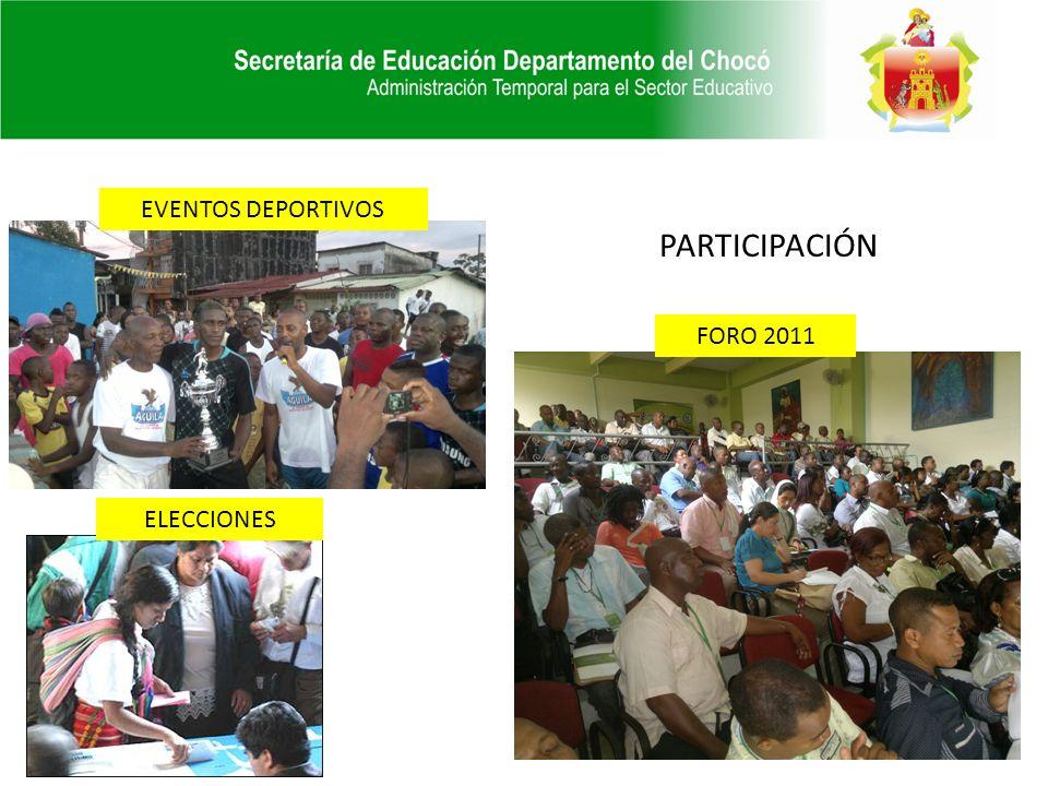 EVENTOS DEPORTIVOS PARTICIPACIÓN FORO 2011 ELECCIONES