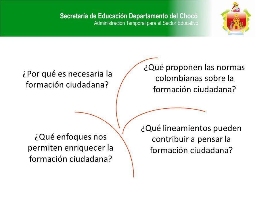 ¿Qué proponen las normas colombianas sobre la formación ciudadana