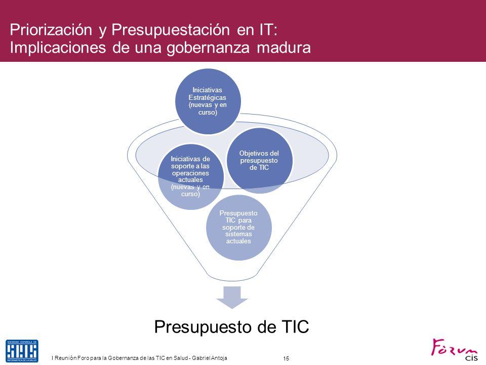 Priorización y Presupuestación en IT: Implicaciones de una gobernanza madura