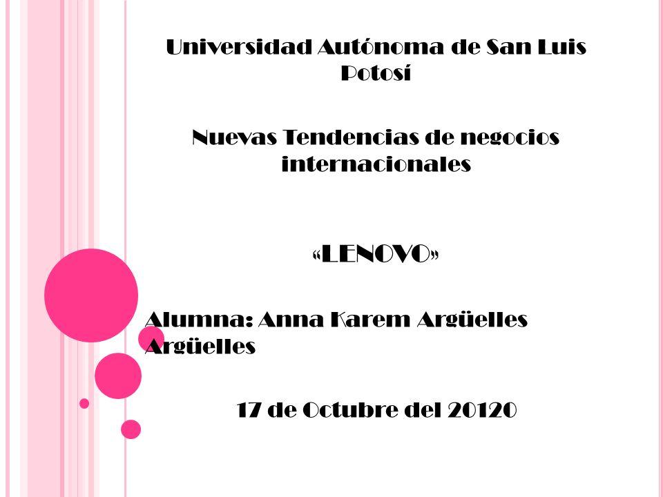 «LENOVO» Universidad Autónoma de San Luis Potosí