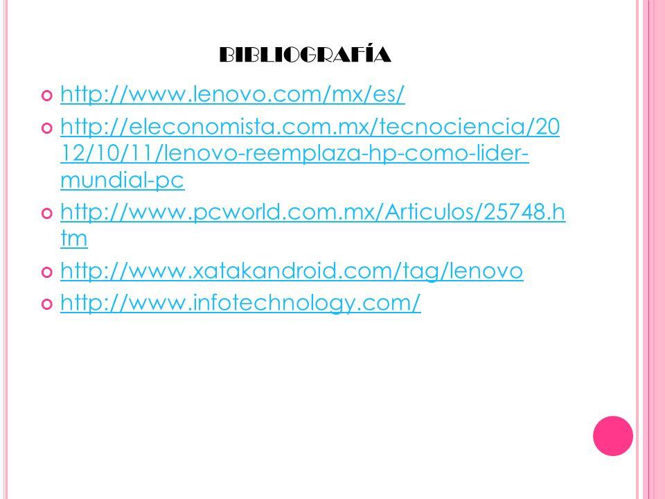 bibliografía http://www.lenovo.com/mx/es/