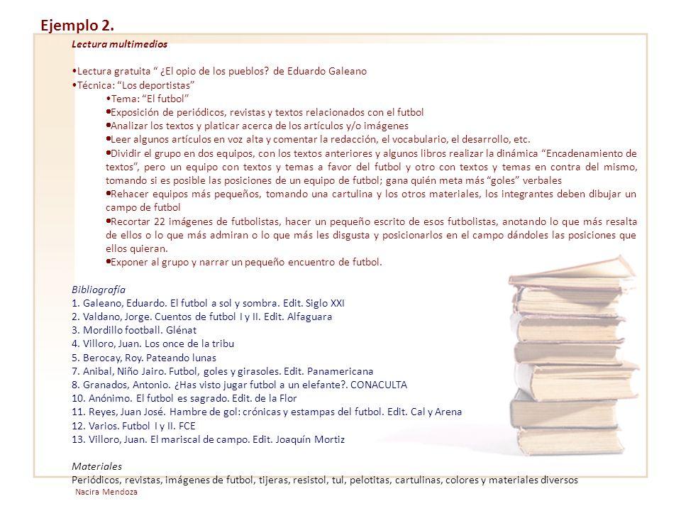 Ejemplo 2. Lectura multimedios