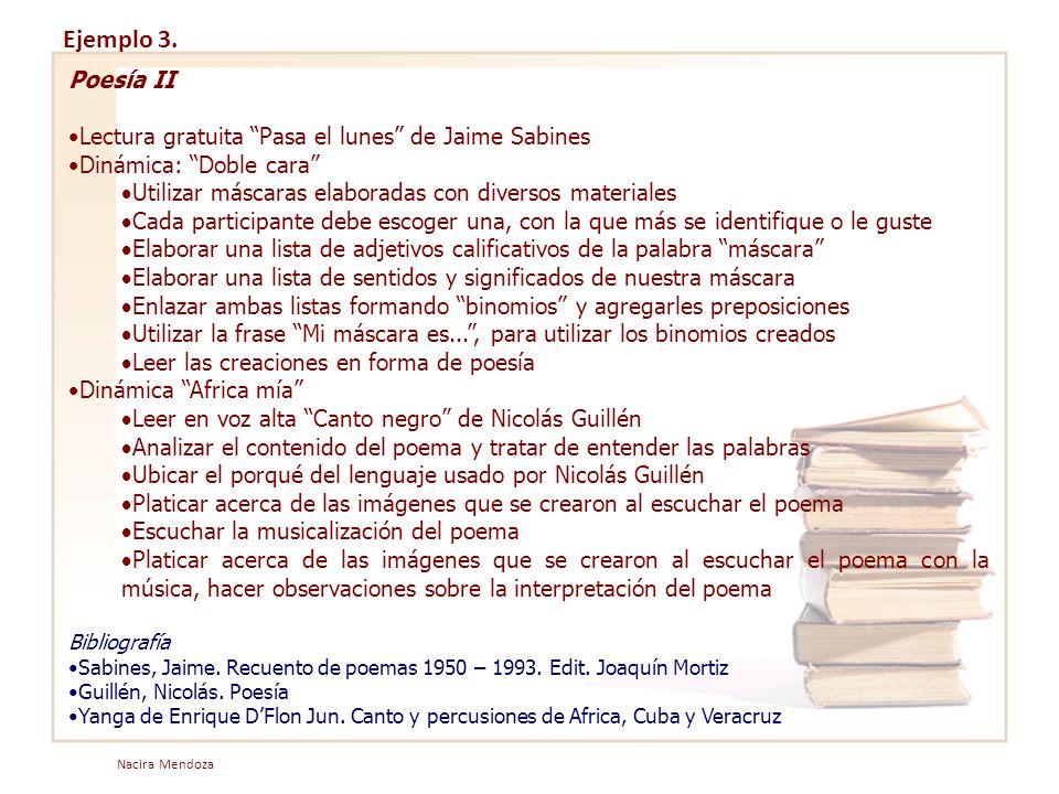 Ejemplo 3. Poesía II Lectura gratuita Pasa el lunes de Jaime Sabines