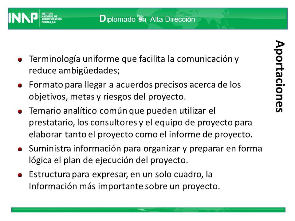 Terminología uniforme que facilita la comunicación y reduce ambigüedades;