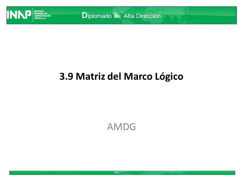 3.9 Matriz del Marco Lógico