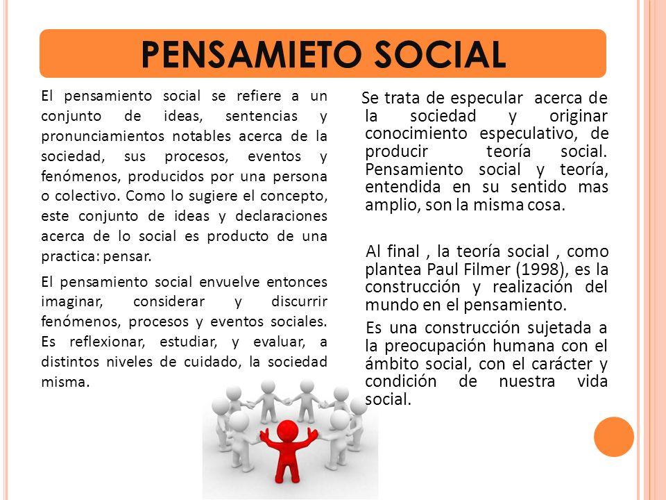 PENSAMIETO SOCIAL