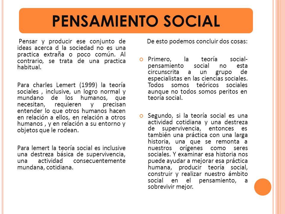 PENSAMIENTO SOCIAL