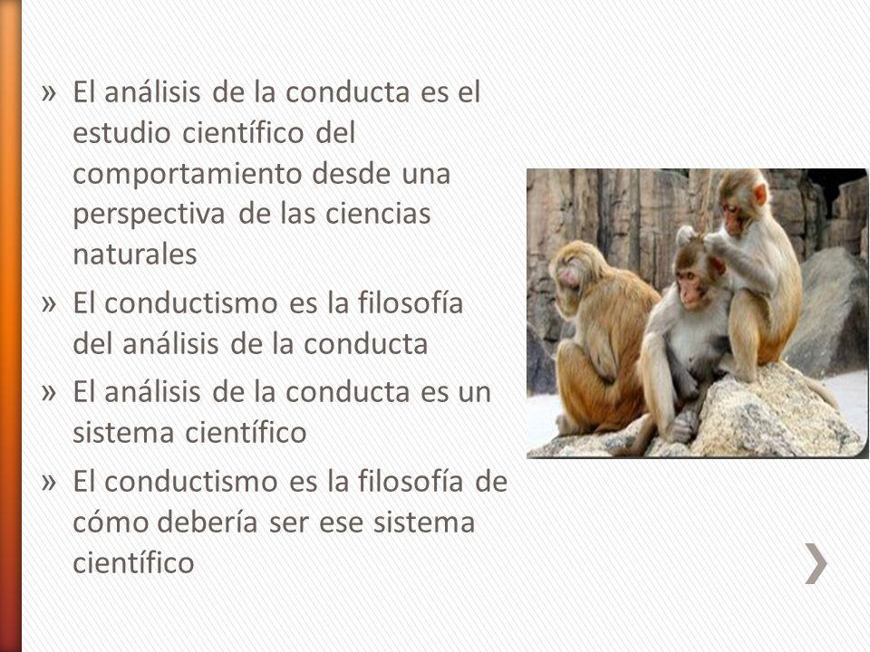 El análisis de la conducta es el estudio científico del comportamiento desde una perspectiva de las ciencias naturales