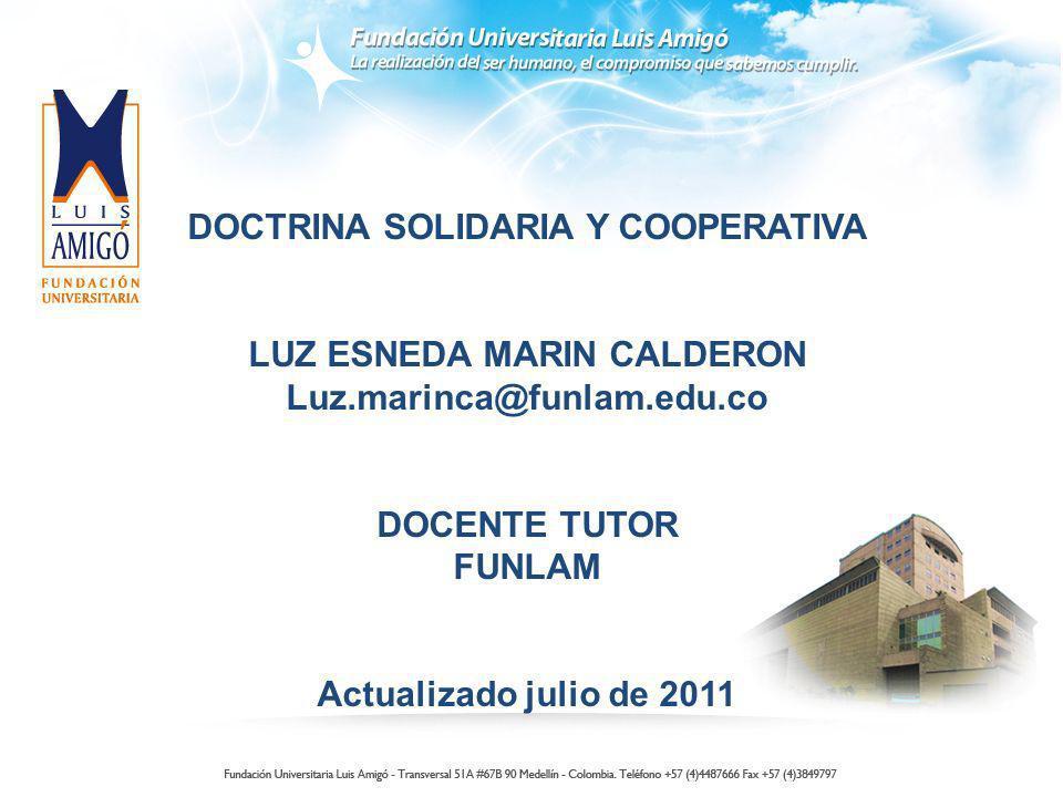 DOCTRINA SOLIDARIA Y COOPERATIVA LUZ ESNEDA MARIN CALDERON