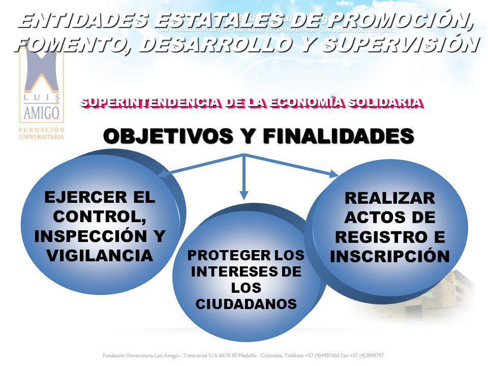 ENTIDADES ESTATALES DE PROMOCIÓN, FOMENTO, DESARROLLO Y SUPERVISIÓN