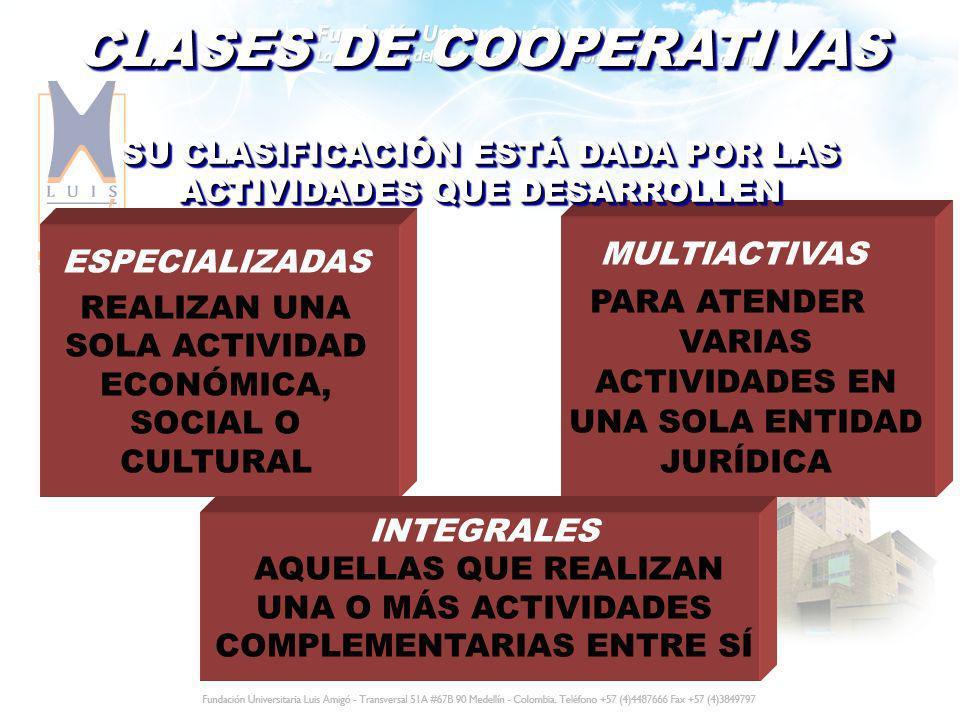 CLASES DE COOPERATIVAS
