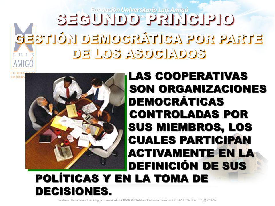 GESTIÓN DEMOCRÁTICA POR PARTE DE LOS ASOCIADOS