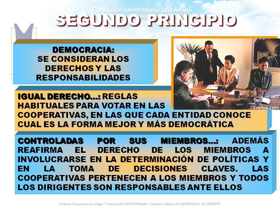 DEMOCRACIA: SE CONSIDERAN LOS DERECHOS Y LAS RESPONSABILIDADES
