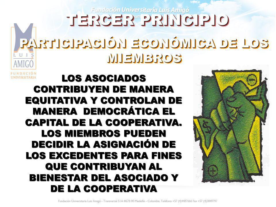 PARTICIPACIÓN ECONÓMICA DE LOS MIEMBROS