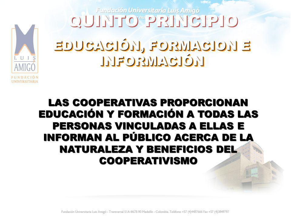 EDUCACIÓN, FORMACION E INFORMACIÓN