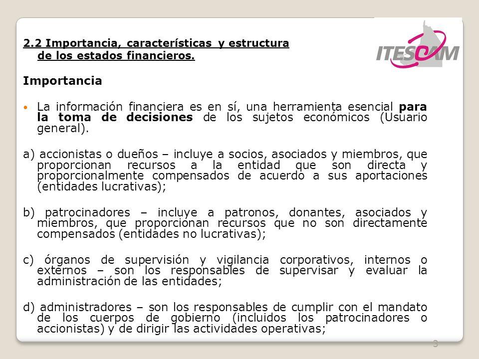 2.2 Importancia, características y estructura