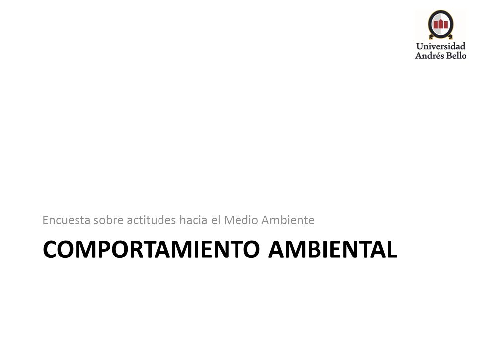 Comportamiento ambiental