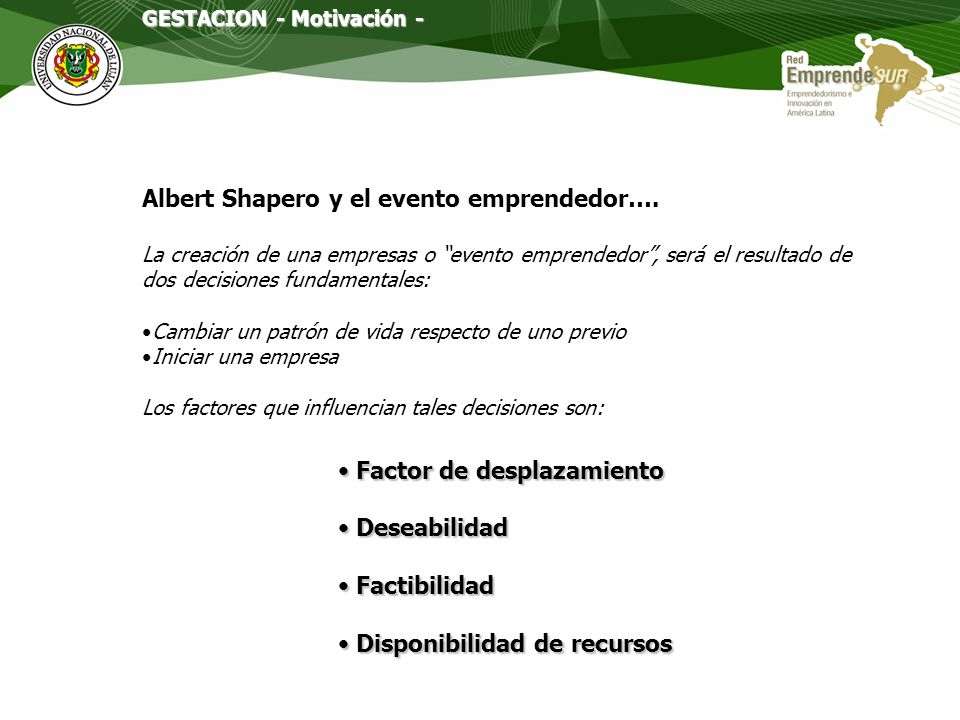Albert Shapero y el evento emprendedor….