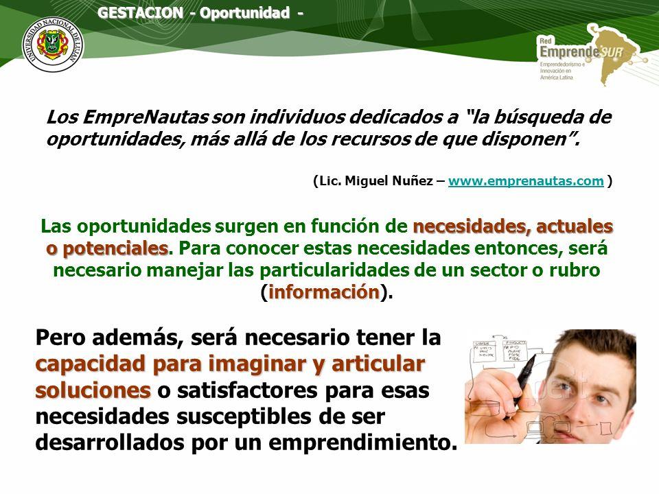 GESTACION - Oportunidad -