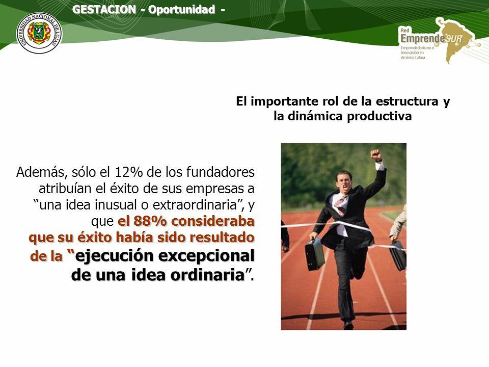El importante rol de la estructura y la dinámica productiva