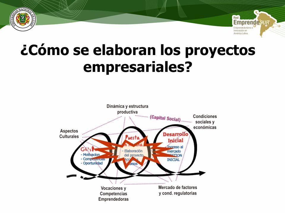 ¿Cómo se elaboran los proyectos empresariales