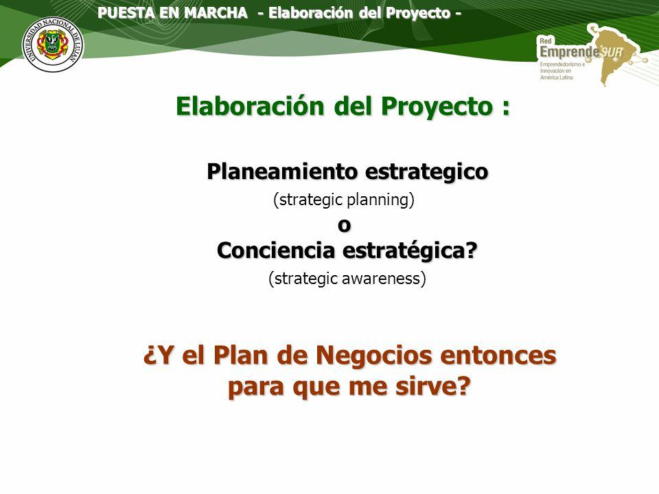 Elaboración del Proyecto :