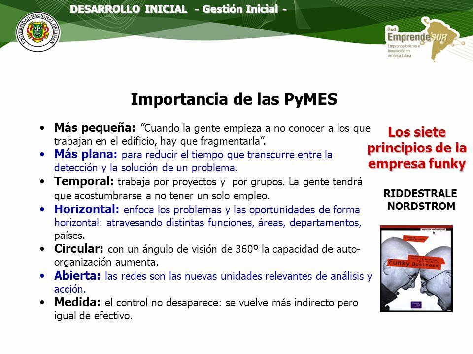 Importancia de las PyMES Los siete principios de la empresa funky