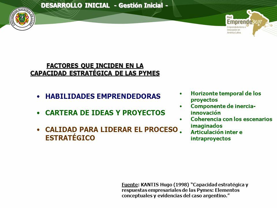 FACTORES QUE INCIDEN EN LA CAPACIDAD ESTRATÉGICA DE LAS PYMES