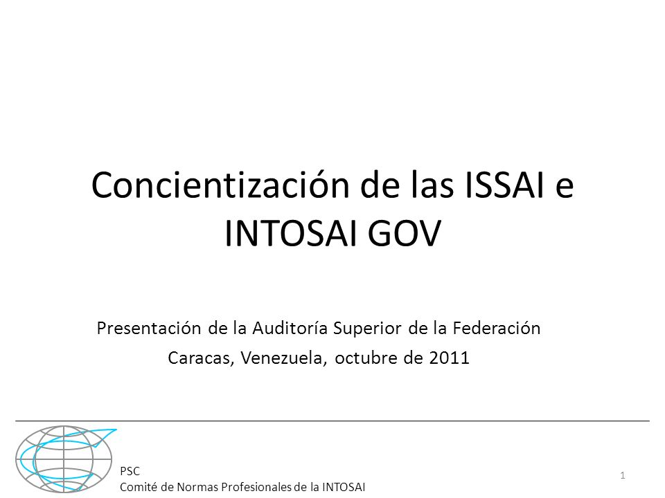 Concientización de las ISSAI e INTOSAI GOV