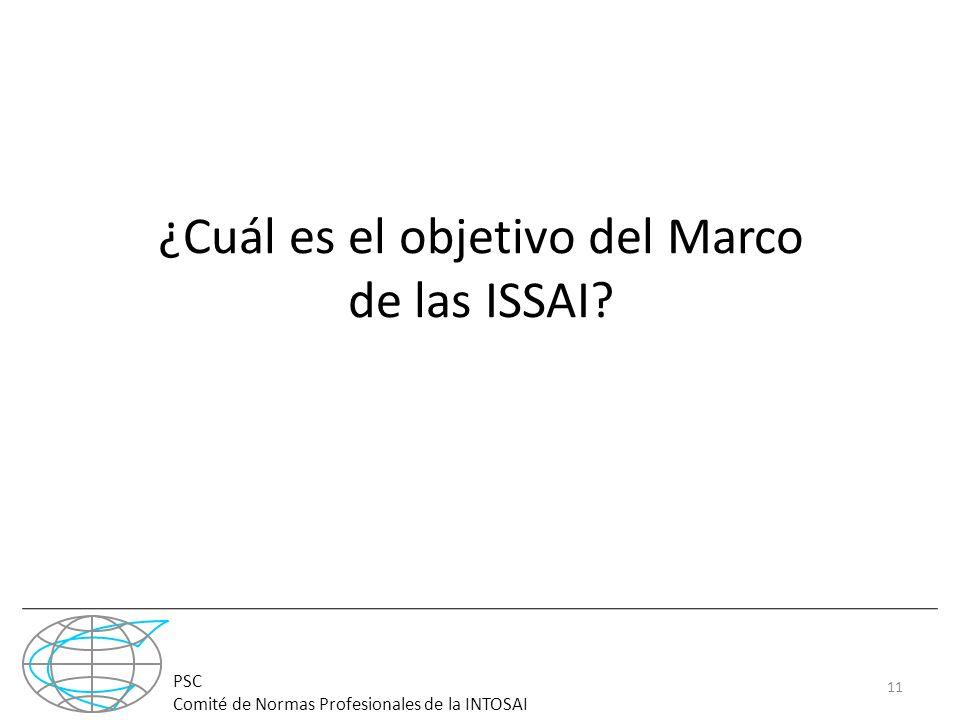 ¿Cuál es el objetivo del Marco de las ISSAI