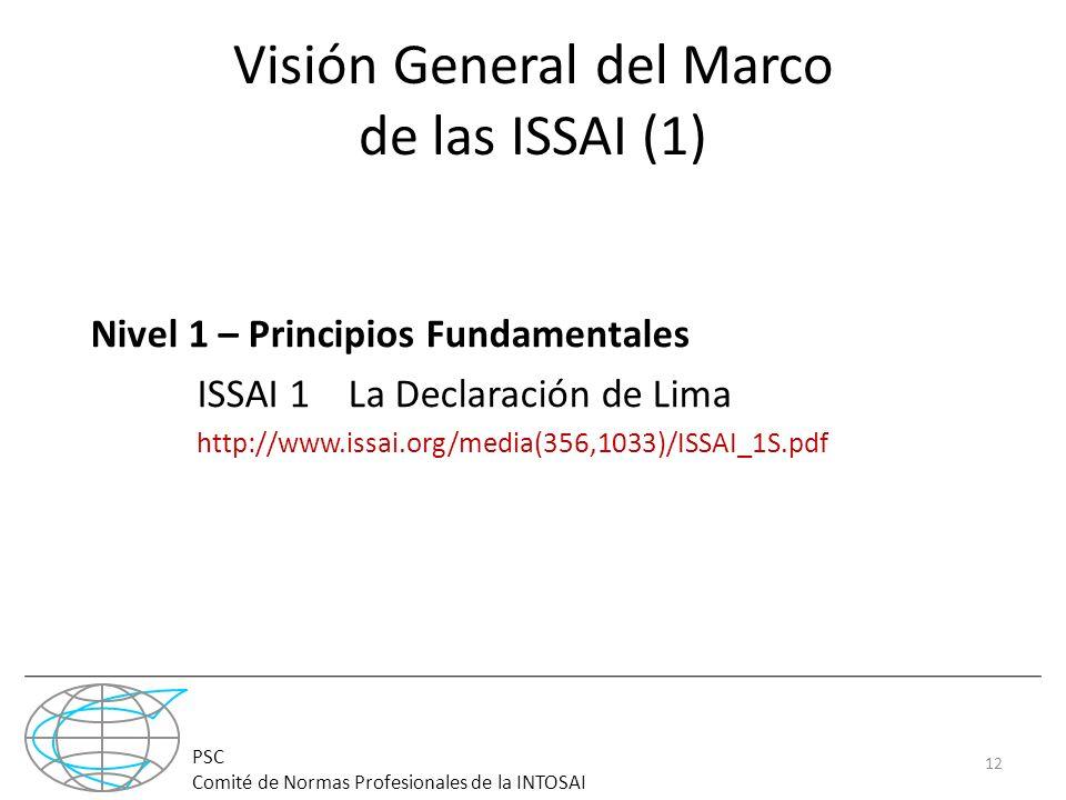 Visión General del Marco de las ISSAI (1)