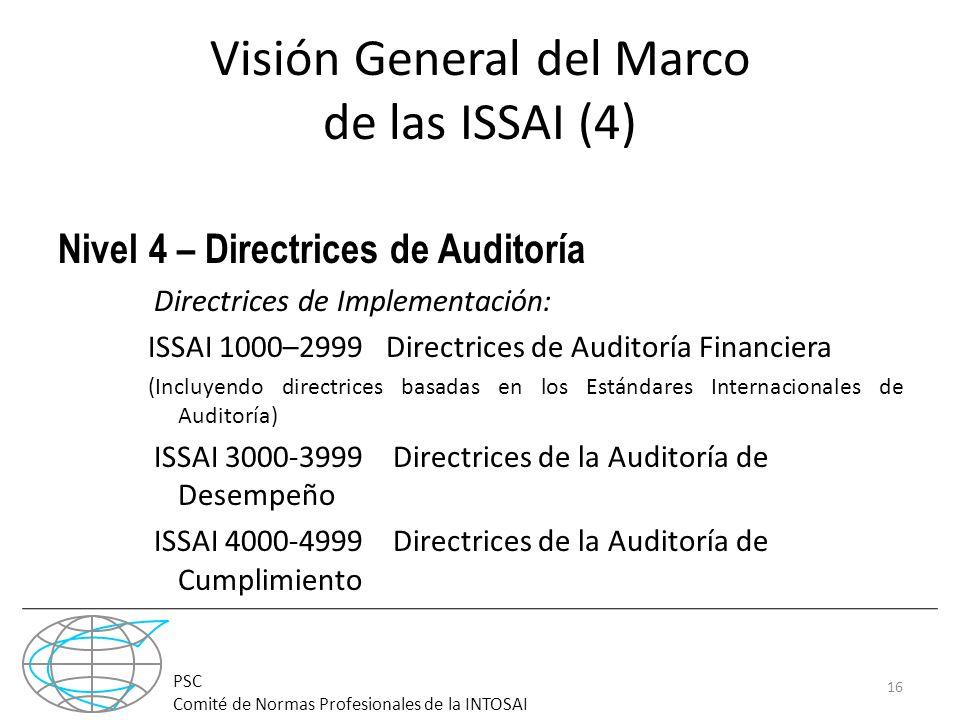 Visión General del Marco de las ISSAI (4)