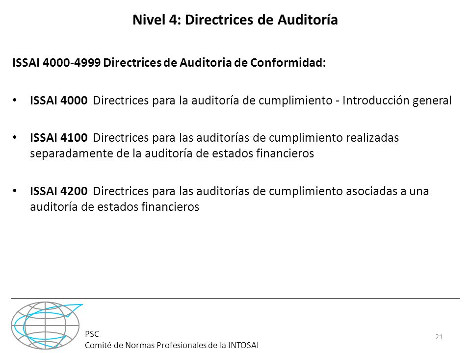 Nivel 4: Directrices de Auditoría