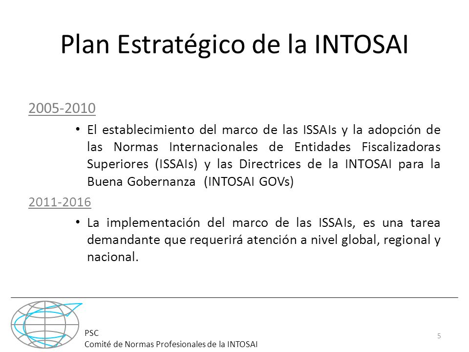 Plan Estratégico de la INTOSAI