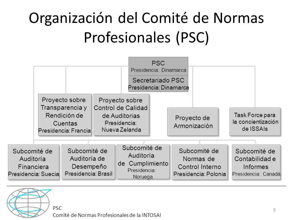 Organización del Comité de Normas Profesionales (PSC)