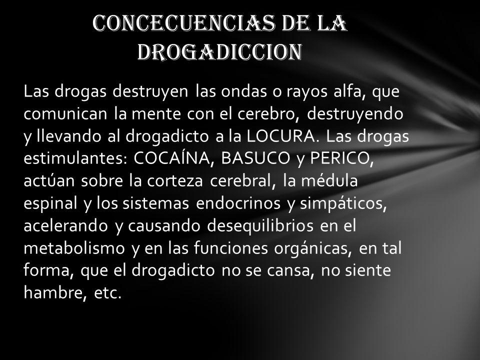 CONCECUENCIAS DE LA DROGADICCION