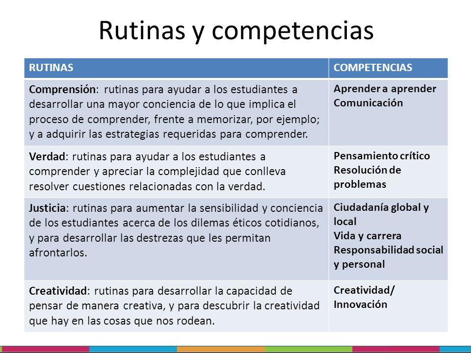 Rutinas y competencias