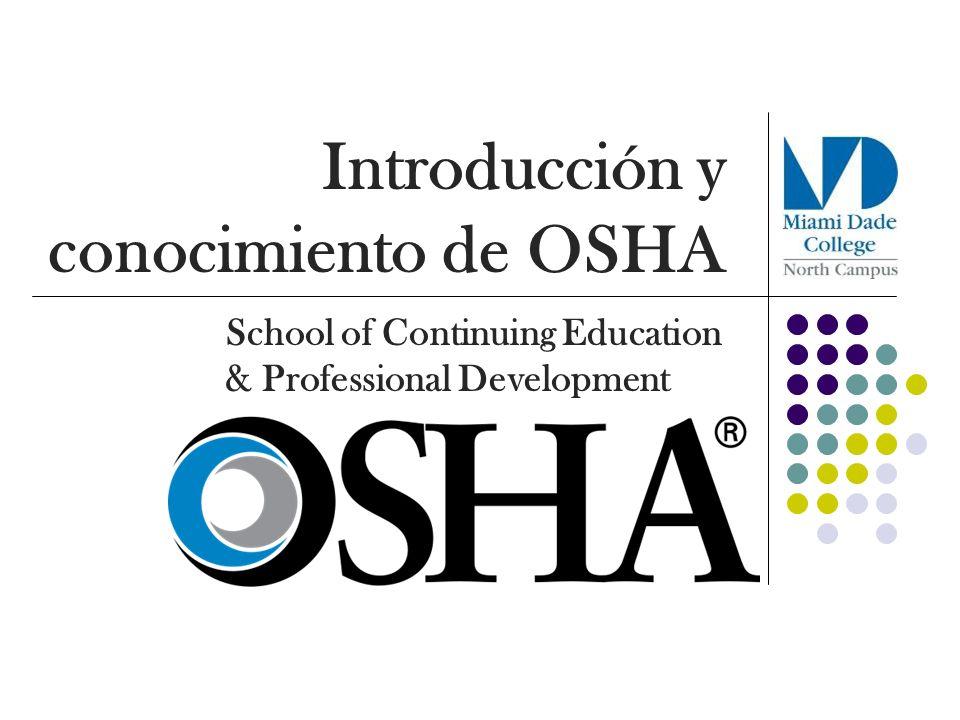 Introducción y conocimiento de OSHA