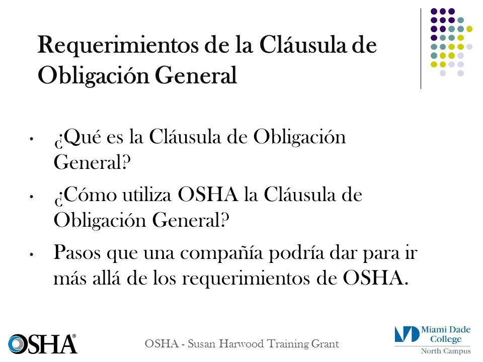 Requerimientos de la Cláusula de Obligación General