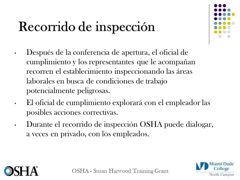 Recorrido de inspección