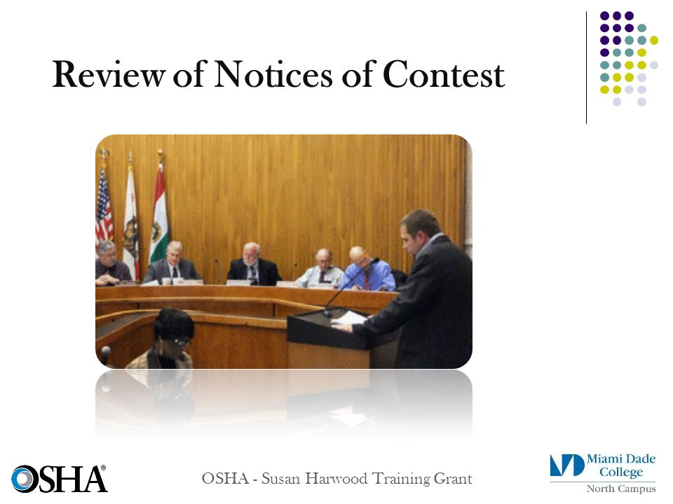 Review of Notices of Contest