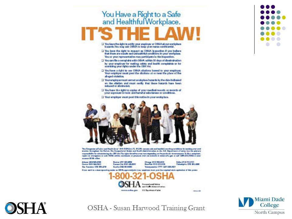 OSHA - Susan Harwood Training Grant