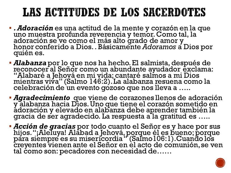 LAS ACTITUDES DE LOS SACERDOTES